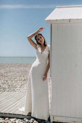 robe de mariee dentelle rebrodee