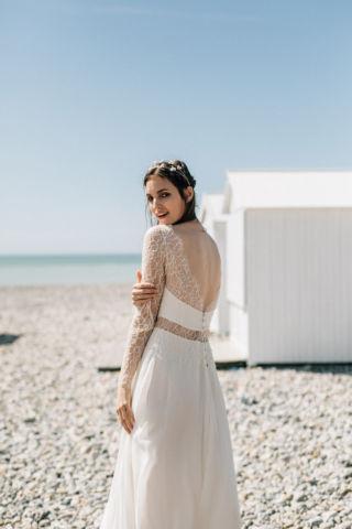 robe de mariee dentelle fine