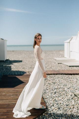 robe de mariee en crepe de soie