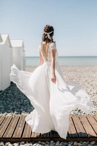 robe de mariee fluide