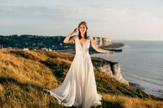 robe de mariee en mousseline de soie