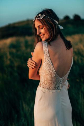 robe de mariee dos en dentelle